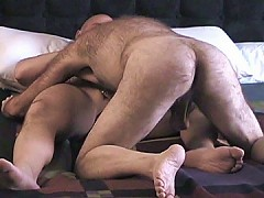 Hairy ass licked by his bear boyfriend