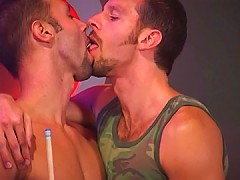 Hot studs lick each others pricks