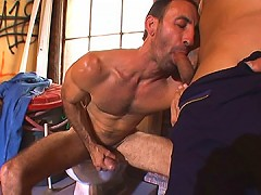 Burly bear gets his ass filled with cock