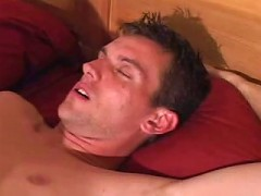 Sexy gay couple warm cock sucking in bed