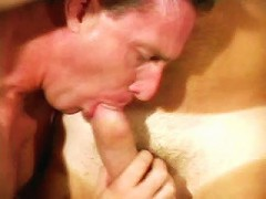 Tanned and hairy gay musclemen in a lustful sucking and pumping fuckfest.