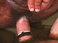 Muscled ebony and ivory gay bear couple inyense ass pumping