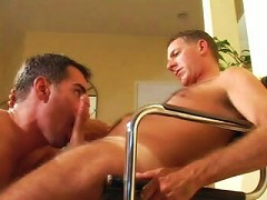 Slightly matured gay bear lovers in a cock sucking and fucking cum bursting finish.