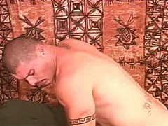 Bald gay couple nasty ass pumping in bed