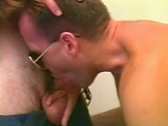 Horny gay deep sucking his police officer lovers cock