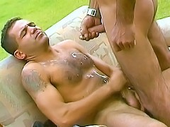 Hairy Indian gays get ass plugged