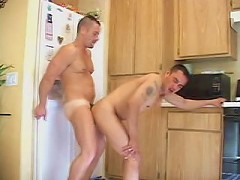 Horny young bear police officer couple in dick sucking thrill