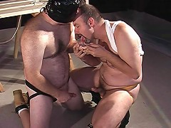 Bear fuckers lick each others cum