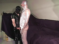 Naked bear shrink wrapped by master